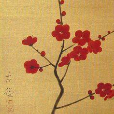 Japanese Art Styles, Yayoi Kusama, Japanese Flowers, Gold Art, Flower Art, Watercolor, Drawings, Illustration, Artwork