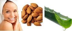 Use aloe vera and almonds face pack for mature and dry skin. Add crushed almonds to the aloe vera gel and mix properly to form a paste. Apply on face and neck and let it sit for 15 minutes before you wash it off.