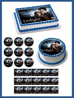 Twilight Edible Birthday Cake Topper OR Cupcake Topper, Decor #BirthdayChild
