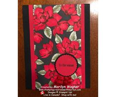 Magnolia Painted Poinsettias Gift Card Holder - Stamping Creations With Marilyn Magnolia Paint, Magnolia Stamps, Christmas Shows, Christmas Cards, Poinsettia, Cute Gifts, Stampin Up, Card Holder, Colours