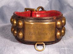 """Antique Dog Collar """"The Mogul"""" Louisville,KY with Provenance from Larie Allen Antiques Exclusively on Ruby Lane"""