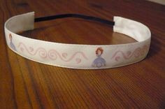 I need to get this for Brooklyn!! SO cute :) Sofia The First Ribbon Headband