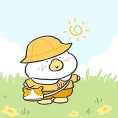 Duck Cartoon, Cartoon Fan, Doodle Drawings, Cute Drawings, Duck Illustration, Illustrations, New Wallpaper Iphone, Disney Wallpaper, Cute App