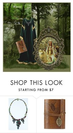 """""""Our Lady of May"""" by chelsea-komschlies ❤ liked on Polyvore featuring GUINEVERE, forest, fantasy, contestentry, medieval and thefantasyemporium"""