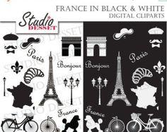 París Clip Art Clipart imágenes prediseñadas francés por PinkPueblo