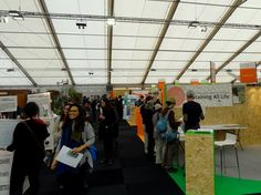 """Climate Generation area (""""green zone"""") exhibits for visitors to the COP21 climate change conference. Photo by Brian Kaylor."""