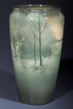 Rookwood Pottery, Cincinatti, Iris Glaze decorated vase by Kataro Shirayamadani, 1907.