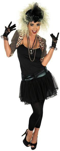 Ladies Madonna Like A Virgin Fancy Dress Costume FUN2762 #MadonnaFancyDress@www.partyonfancydress.co.uk
