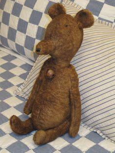 Handmade primitive Teddy bear.