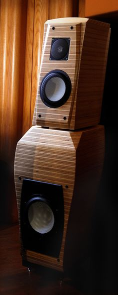 Loiminchay Audio Chagall in solid Birch ply Audiophile Speakers, Stereo Speakers, Bluetooth Speakers, Audio Design, Speaker Design, Speaker Plans, Birch Ply, Music System, High End Audio