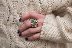 RING, STATEMENT RING, EMERALD, COLOURS, RIVER ISLAND