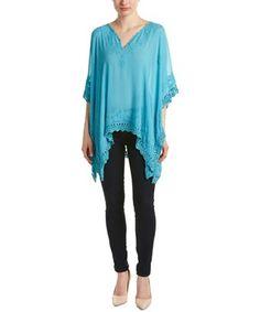 CALYPSO ST BARTH CALYPSO ST. BARTH BENITA SILK TOP. #calypsostbarth #cloth # Calypso St Barth, Silk Top, Cover Up, Blue, Clothes, Collection, Shopping, Tops, Dresses