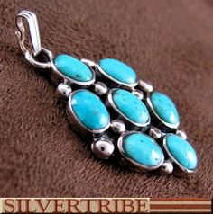 Southwest Turquoise Sterling Silver Pendant Jewelry TS56570