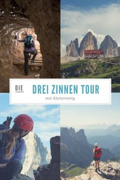 Via ferrata tour at the Drei Zinnen - Sports Fitness Europe Destinations, Thru Hiking, Hiking Trails, Appalachian Trail Map, Planning Maps, Travel Tags, Pacific Crest Trail, Colorado Hiking, Backpacking Europe