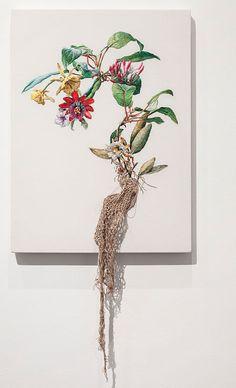 Ana Teresa Barboza – Serie De La Estructura De La Raiz (Flores) Embroidery On Cloth 2013