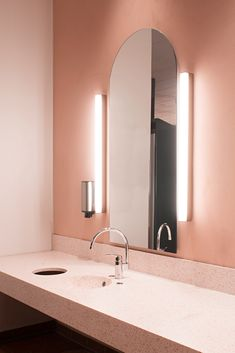 Flamingo spa in Vantaa, Finland. Interior design by Sistem Interior Architects Decor, Bathroom Lighting, Interior, Lighted Bathroom Mirror, Home Decor, Bathroom Mirror, Interior Architect, Interior Design, Mirror