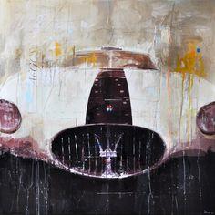 Markus Haub Maserati A6CS Edition auf Metall (Dibond) ab 25 x 25 cm ab  49,00 € http://www.artfan.de/haub-markus-maserati-a6cs-kunst-kaufen-junge-kunstler.html