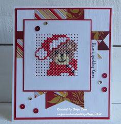 Anja Zom kaartenblog: Drie borduurtjes en een ik denk aan jou Cross Stitch Bookmarks, Mini Cross Stitch, Cross Stitch Cards, Stitching On Paper, Cross Stitching, Cross Stitch Embroidery, Counted Cross Stitches, Hand Embroidery Videos, Embroidery Cards