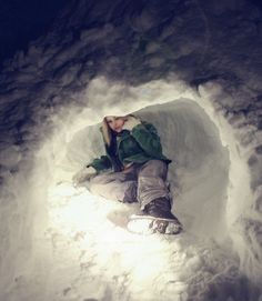 Snow forts are so cool! Heather and I made the best snow forts.