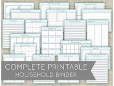 Complete Household / Family Binder Printable Set - PDF INSTANT DOWNLOAD