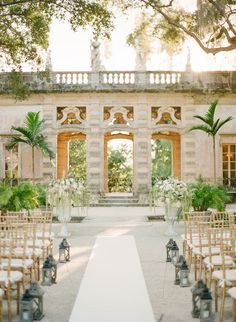 A Glamorous Miami Wedding at Vizcaya in Miami link to site for venue here: http://vizcaya.org/facility-daytime-garden-ceremonies.asp  Photos KT Merry Photography