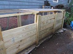 Just finished replacing a compost bin for friends who garden mightily in the city.  My clients  were tired of tree roots growing up thru the bottom of the old b…