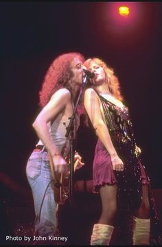 Stevie Nicks and Waddy Wachtel singing Stop Draggin My Heart Around on her Bella Donna tour.