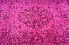 90 x54TURKISH PINK RUG Area Pink Rugs Overdyed Rugs by mpwrugs