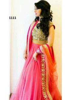 Bollywood Replica - Party Wear Pink Anarkali Suit   - 1111