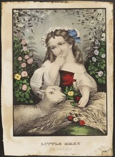 Little Mary & her Lamb, ca. 1865 | In the Swan's Shadow