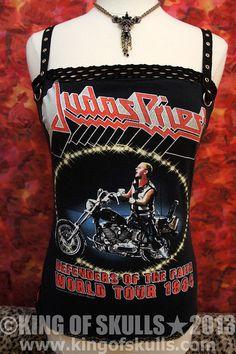 Judas Priest Painkiller Denim & Leather Studded Jacket ...