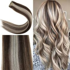 Youngsee Weft Human Hair Extensions Brown to Blonde Hair Color For Brown Skin, Brown To Blonde, Dark Brown, Remy Hair, Human Hair Extensions, Curls, Long Hair Styles, Beauty, Hair Extensions