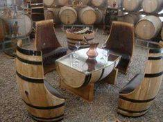 barrel dining set