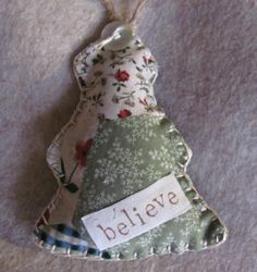 Country Fabric Christmas Tree by GTcottagecrafts on Etsy