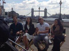 Paul Walker, Jordana Brewster, Vin Diesel, and Michelle Rodriguez's MTV interview for Fast & Furious 6 near London's Tower Bridge.