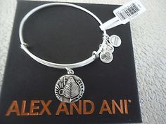 New ALEX AND ANI Liberty Copper Charm Bracelet Sterling Silver Bangle Tag /& Card