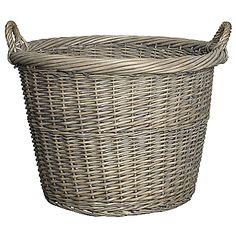 Buy John Lewis Willow Log Basket, Grey online at JohnLewis.com - John Lewis