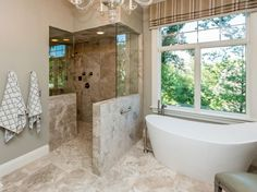 Image result for bathtub freestanding next to shower