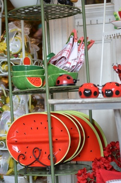 "Nothing says ""SUMMER"" like Watermelons and Ladybugs :) www.willowmanorgifts.com"