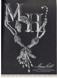 1963 Miriam Haskell jewelry ad