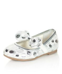 Take a look at this Silver Puffy Ballet Flat by Jelly Beans on #zulily today! I'm dizzy, have I already pinned this???
