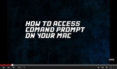 Know How to #Access Command Prompt on Your #Mac
