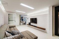 넓어보이는 25평 아파트 인테리어 예쁜집 : 네이버 블로그 Tv Wall Design, Penthouse Apartment, Oversized Mirror, Flat Screen, Furniture, Home Decor, Decoration, Houses, Blood Plasma