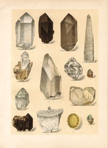 mineral 02-03  kremen Ⅲ. /213×285mm  from book of Brauns, 1903  ( lithograph)