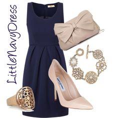 """Little Navy Dress"" by SonyaStriggles on Polyvore"