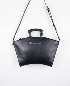 $171.60 Black Over the Shoulder Bag Ladies Handbags Leather