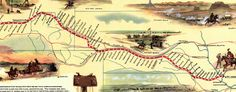 Tomorrow is the 152nd anniversary of the Pony Express. #map of the #PonyExpress Route (1960)
