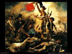 Eugene Delacroix: la libertà guida il popolo ( Louvre)