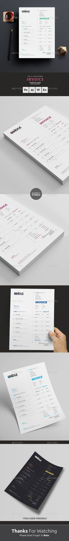 MS Word Invoice Template Template, Business proposal and Proposal