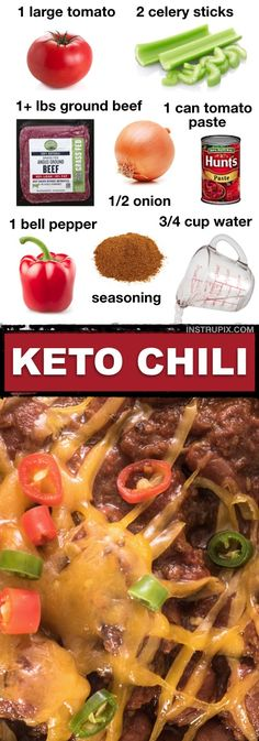 Low Unwanted Fat Cooking For Weightloss 7 Easy Low Carb Soup Recipes Keto Friendly This Keto Chili Recipe Is So Easy And Comforting It's Just As Good Leftover. It's Made With Ground Beef And Other Simple Ingredients. 5 Ingredient Chili Recipe, Keto Chili Recipe, Chili Recipes, Low Carb Soup Recipes, Keto Crockpot Recipes, Ketogenic Recipes, Healthy Recipes, Crockpot Ideas, Simple Recipes